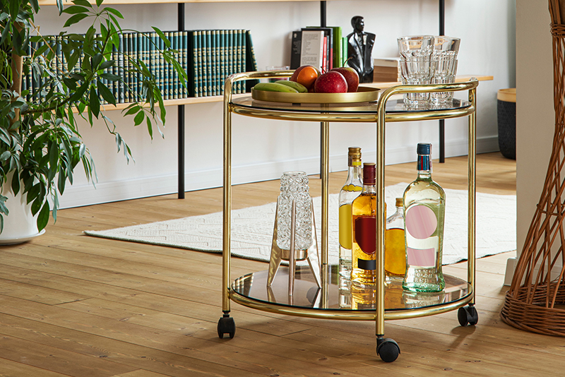 Serve drinks in style How to style a bar cart